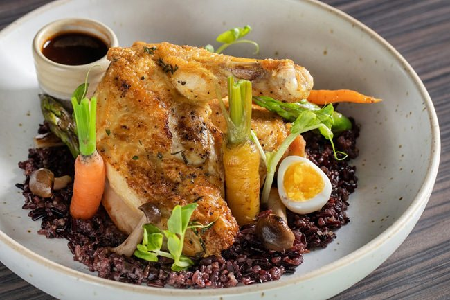 Delicious free-range chicken dishes at Hilton Pattaya.