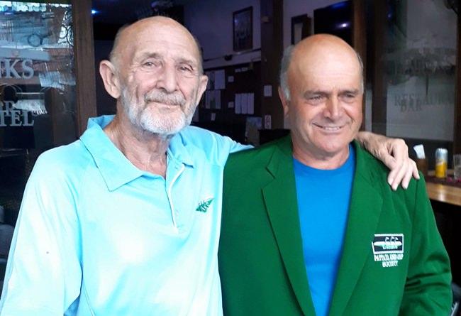 Vito Cirelli (right) with Len Jones.