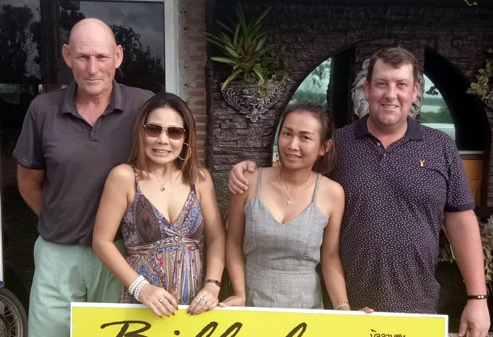 Lloyd Shuttleworth (from left), Miss May, Miss Sasicha and Bob Scott.