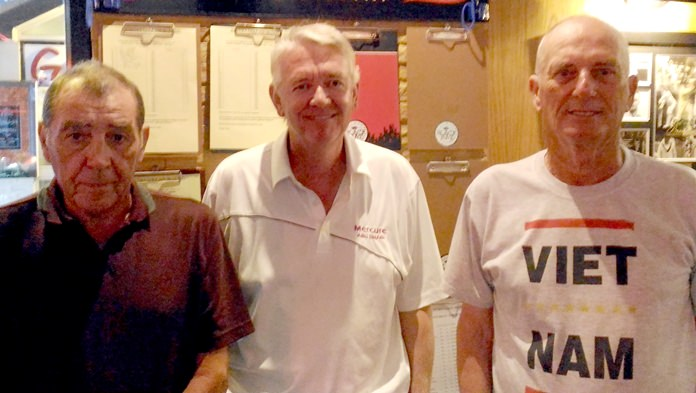 Glyn Evans (from left), Dave Edwards and John Carlin.
