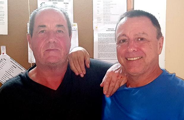 Tom Herrington (right) with Alan Sullivan.
