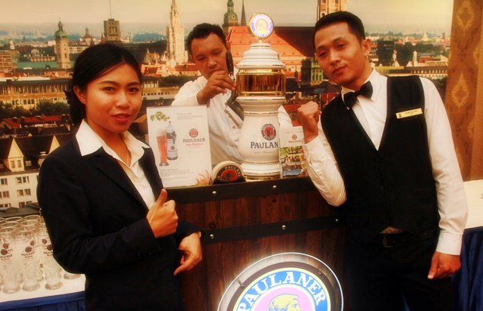 The Paulaner team ensured there was a constant supply of the world's favourite Paulaner Bier direct from Munich.