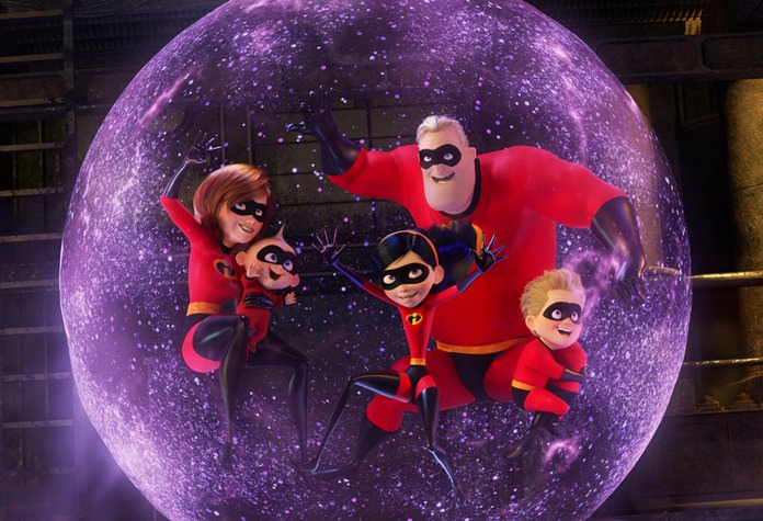 "This image released by Disney Pixar shows a scene from ""Incredibles 2"". (Disney/Pixar via AP)"