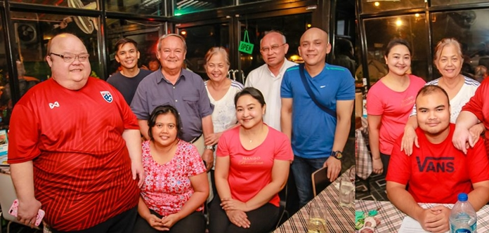 Three generations of the Dibbyawan family get together for a family photograph.