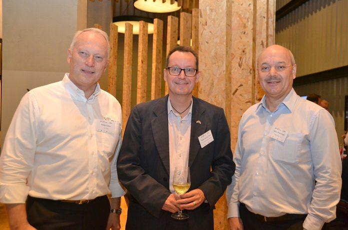 (L to R) Philip Coates Philip Coates, Executive Director of the Belgian-Luxembourg/Thai Chamber of Commerce (Belu-Thai), Hans Van Den Born, Executive Director of NTCC, and Marc Dehertogh.