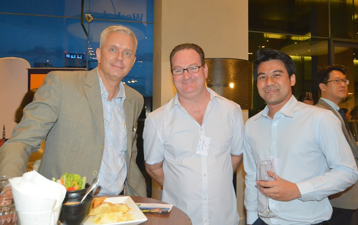 (L to R) Peter Kaizen, Mark Patman and Peerapong Phibalkul from ANCA.