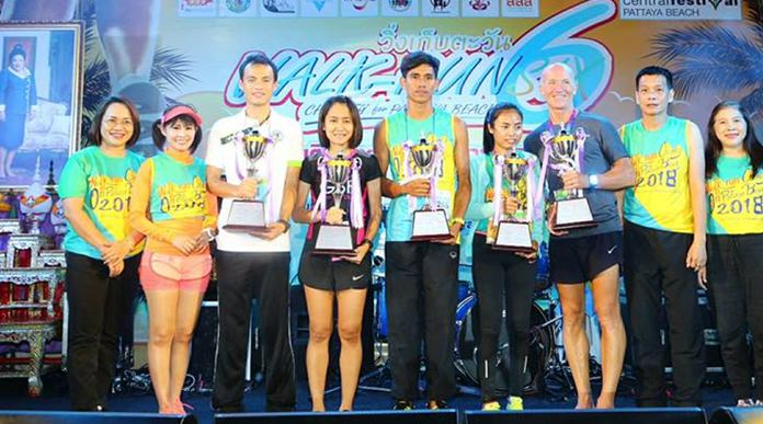 Race winners pose with their trophies at the conclusion of the event.