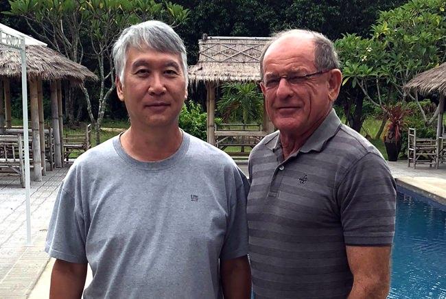 Daniel Oshiro (left) and Paddy Devereux.