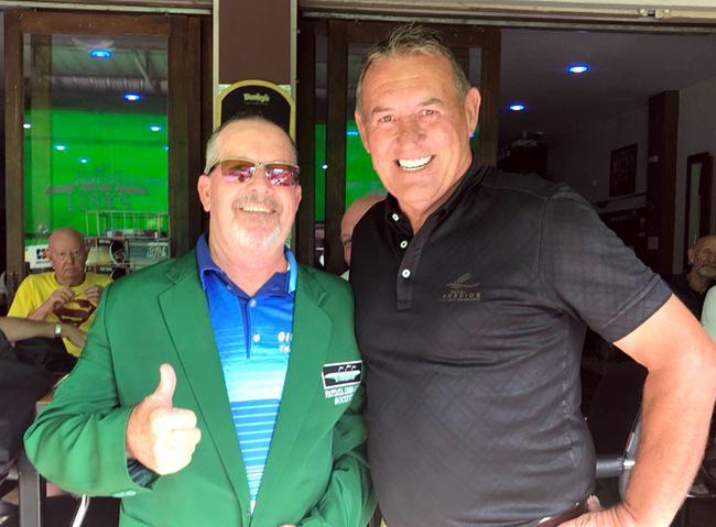 Garry Barker (left) with Phil Davies.