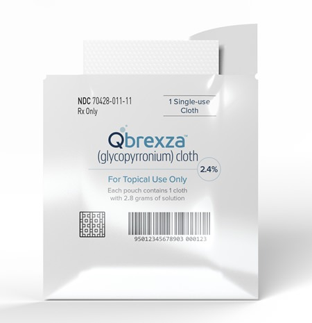 The U.S. Food and Drug Administration approved Qbrexza, the first drug developed to reduce excessive sweating, a common condition that can cause anxiety. (Dermira Inc. via AP)