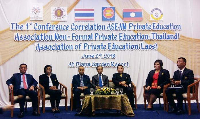 Education officials from both Thailand and Laos signed an agreement at the Diana Garden Resort agreeing to help private-school educators bring more Laotian students to Thailand for vocational training.