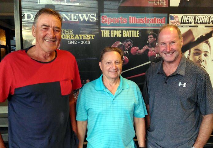 Bruce Gardner with Harry Vincenzi and Tim Hake.