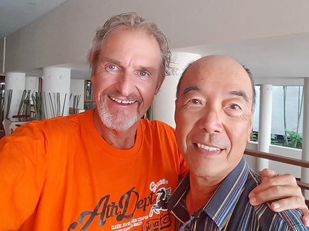 Mashi Kaneta (right) with Andre Van Dyk.