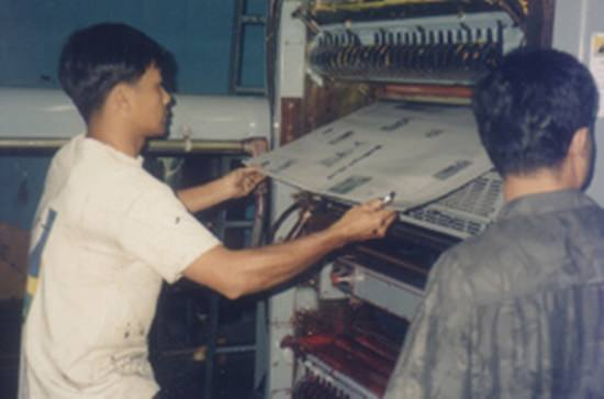 The first page of the first issue of Pattaya Mail comes off the printer back in 1993.