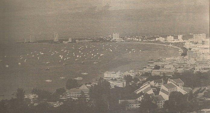 Pattaya Beach 1993 & 2018 ( Below). Fun City has grown over the years.