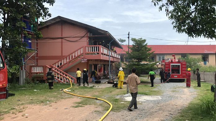 Fire damaged three units in a 12-unit Pattaya apartment house, causing hundreds of thousands of baht in damage, but no injuries.