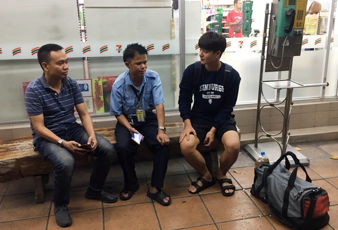 """Taxi driver Sutthiphong Aunion claims it was simply an """"accident"""" that he left a South Korean tourist at a gas station."""