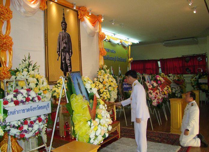 Gov. Pakarathorn Thienchai presided over the July 11 ceremony honoring King Narai Maharat, King Ramathibodi III.