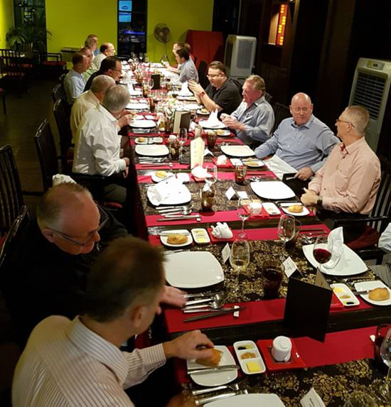 Last week the Eastern Seaboard Businessmen's dinner returned to its full strength with a group of 22 prominent businessmen.