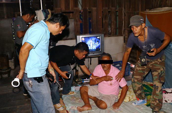 Tongsuk Klakratok was taken into custody at his Soi Chaiytalay 2 home.