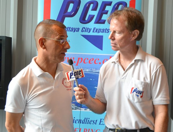 4. Member Ren Lexander interviews Gio Luicardi after his presentation to the PCEC. To view the video, visit https://www.youtube.com/watch?v=P-zKltJXTd8&t=8s.