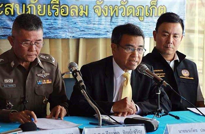 Phuket Governor Noraphat Plodthong.