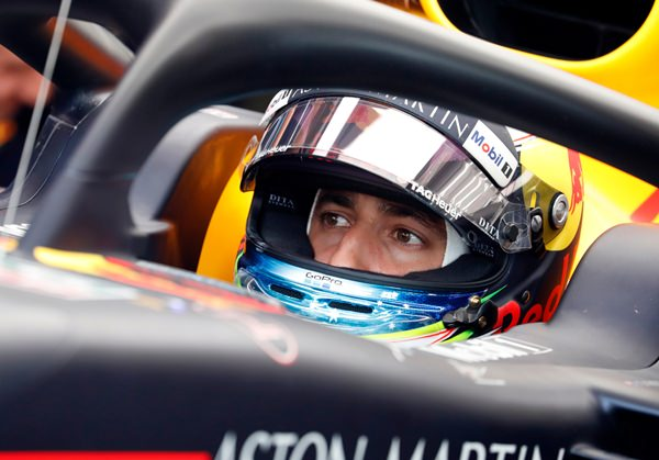 Red Bull driver Daniel Ricciardo of Australia waits in his car during the third free practice session for the Hungarian Formula One Grand Prix, at the Hungaroring racetrack in Mogyorod, northeast of Budapest, Saturday, July 28. (AP Photo/Laszlo Balogh)