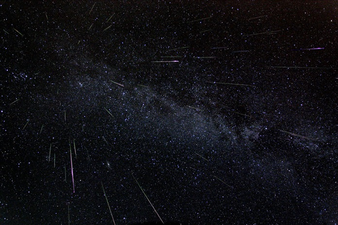 Perseid meteors. (Photo/NASA)