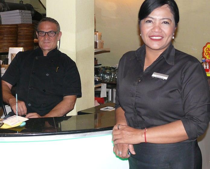 The lovely waitress Kanista.