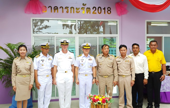 Thai and American sailors joined forces to build a library for Baan Klongpai School following their joint CARAT exercise.