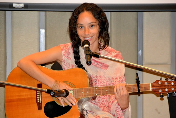 Maya McClean entertains the PCEC audience with several of her original songs as she also discussed her past music and entertainment career and her current endeavors as a life coach.