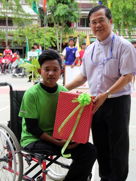 Swimmer, basketball player, wheelchair racer; top athlete of the two day event.