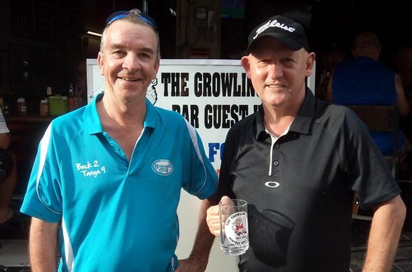 Mug winner Jayson Schembri (right) with Jerry Dobbs.