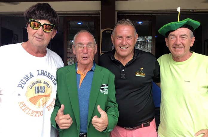 Steve Baker (2nd left) with Graeme Dunn (left), Colm O'Donovan (far right) and Phil Davies.