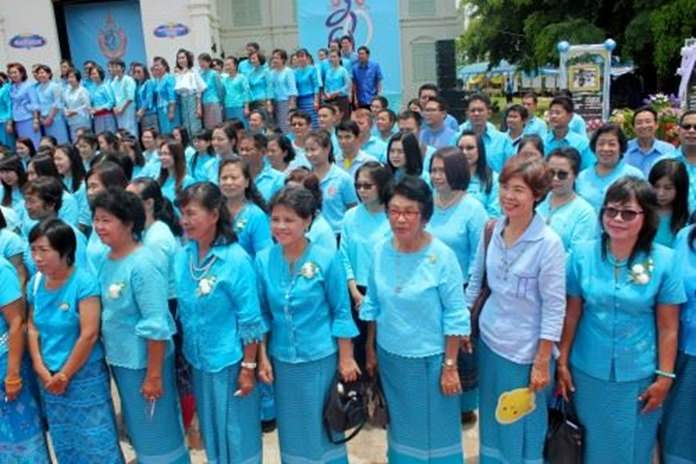 Pattaya City invites Thais and tourists to wear blue on National Mother's Day.
