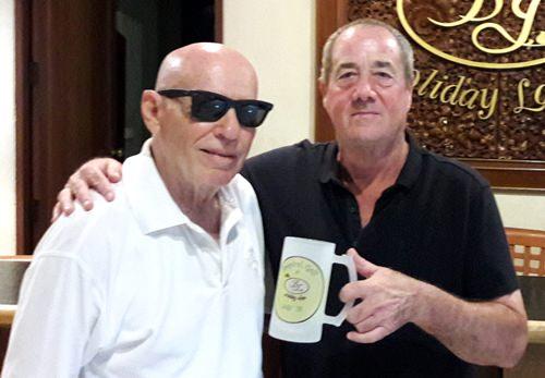 Monthly mug winner Alan Sullivan (right) with event sponsor Bill Jones.