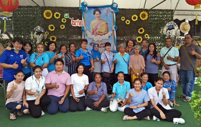 Nongprue volunteers provided mobile screening for diabetes, blood pressure checks, and gave health consultations at Wat Suttawas.