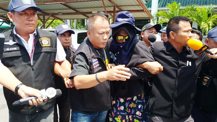 Bodyguard Kritsana Srisuk swore to the giant Buddha on the mountain he had no part in killing 20-year-old Paveena Namuangrak and Anantachai Jaritrum, 21, insisting he was only a driver and bodyguard for accused mastermind and gunman Panya Yingang.