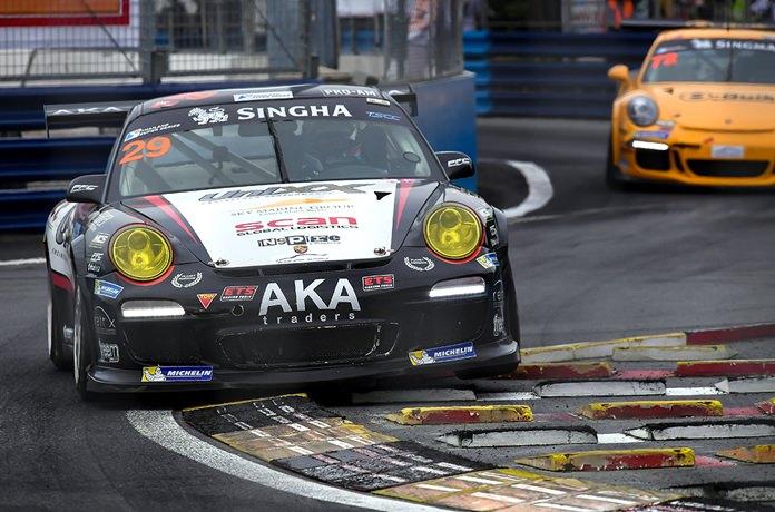 The Unixx TR-Motorsport Porsche competes in the GTM Supercar class.
