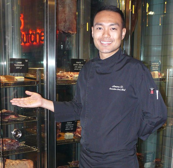 Chef Jacky with his butcher shop.