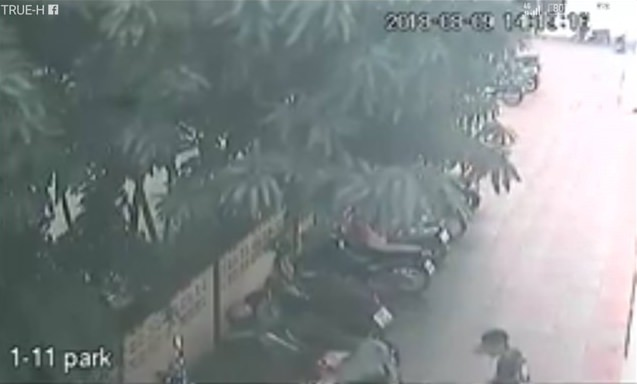 CCTV caught video of area thieves who stole a pink motorbike and who police consider to be their main suspects in the noodle shop theft.