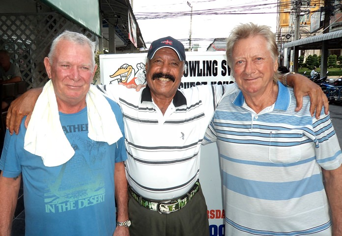 Steve Younger (from left), Ebby and Keith Buchanan.