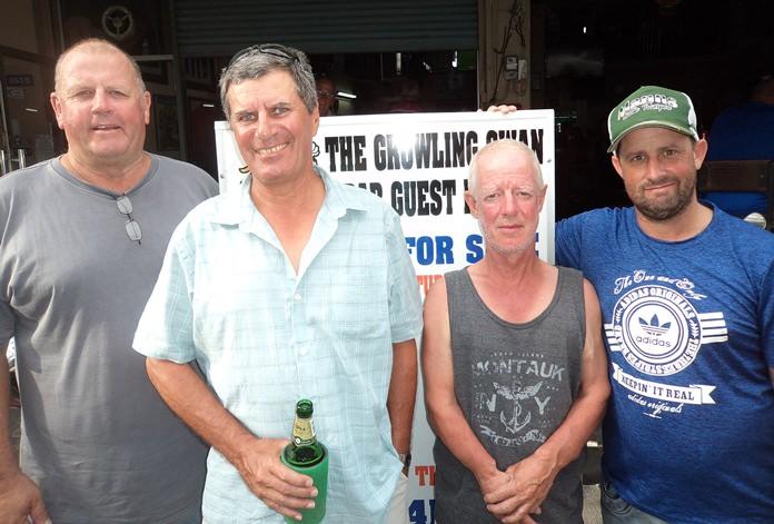 Mike MacGregor (from left), with Rudy Regenass, Shane Young with Aaron Shorten.
