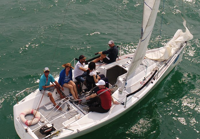 Nina takes control of a 25-foot racing yacht for the first time.