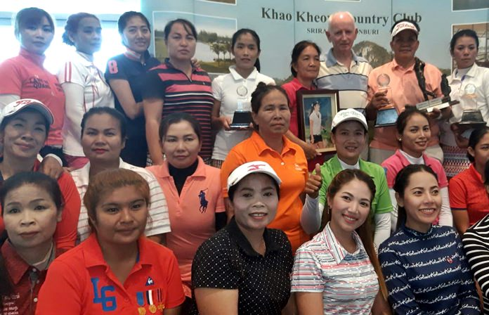 Caddies at Khao Kheow pose for a group photo.