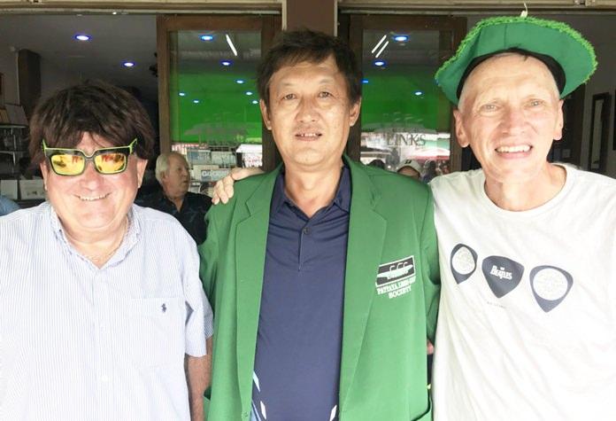 Masa Sugaya (centre) with Dave Arataki (left) and Colin Service.