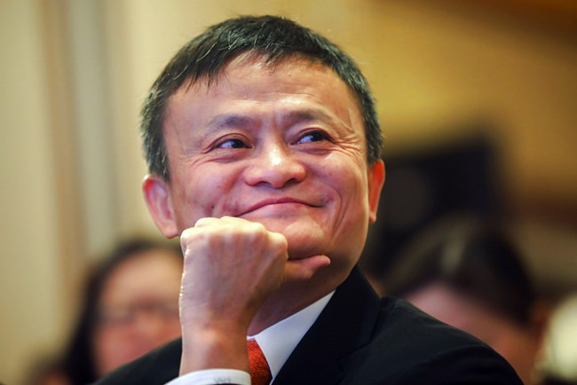 In this June 25, 2018, photo, Jack Ma, chairman of Alibaba Group attends the ceremony to launch a blockchain-base remittance solution in Hong Kong. (Chinatopix via AP)