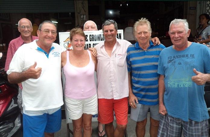 (L to R) Alan Sanders, Stu Casa Rifkin, Lorraine Percy, Rudy Regenass, Keith Buchanan and Steve Younger.