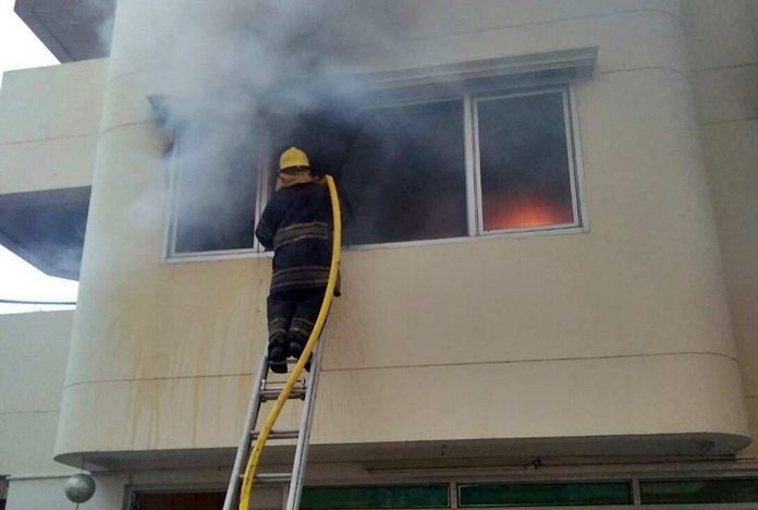 No one was injured when a fire destroyed a Sivalai City Place apartment in South Pattaya.