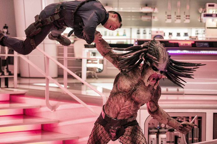 "This image released by 20th Century Fox shows a scene from ""The Predator."" (Kimberley French/20th Century Fox via AP)"